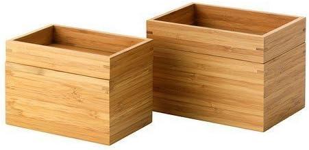 Ikea Dragan Bambou Boîte de Pot de Rangement pour Salle de ...