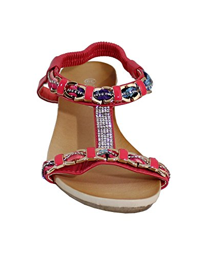 By Shoes - Sandalias para Mujer Rouge