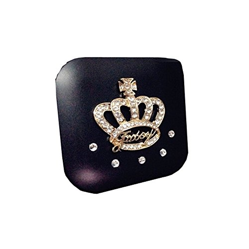 [[BLACK Crown] Special DIY Contact Lenses Box Case/Holders Storage Container] (Prescription Colored Contact Lenses)