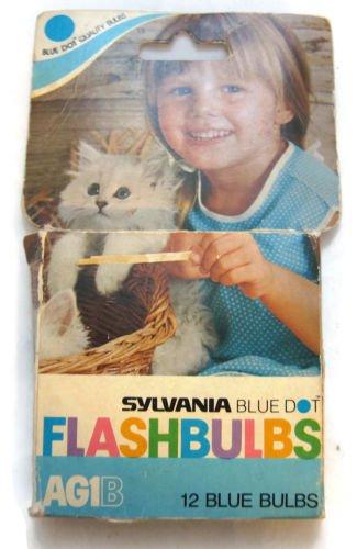 Sylvania Flashbulbs - Sylvania Blue Dot Flashbulbs AG1B 12 blue bulbs