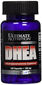 Ultimate Nutrition DHEA Platinum Series Capsules, 100 mg, 100-Count Bottle