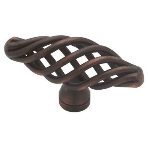 Liberty PN0528-VBR-C Kitchen Cabinet Hardware Knob with Small Oval Birdcage Design Antique Bronze Birdcage Knobs