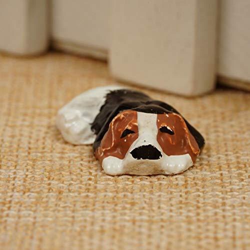 Agordo New 1:12 Miniature Dollhouse Sleeping Pekingese Dog Pet Home Decor DIY UK Gift