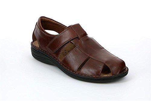 Grunland SE0015 LINO Sandalo Uomo P. Cioccolato 41