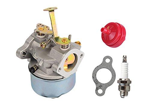 HIFROM Carburetor Fuel Fliter Spark Plug for Tecumseh 632631 632230 632272 Troy bilt chipper vac 47279 47261 Tecumseh H30 H50 H60 (Troy Bilt Chipper Vac)