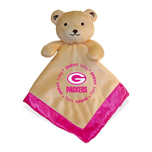 Baby Fanatic Pink Security Bear Blanket, Green Bay Packers