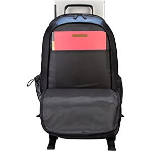 Targus XL Backpack for 17-Inch Laptops, Black with Blue Accents (TXL617)