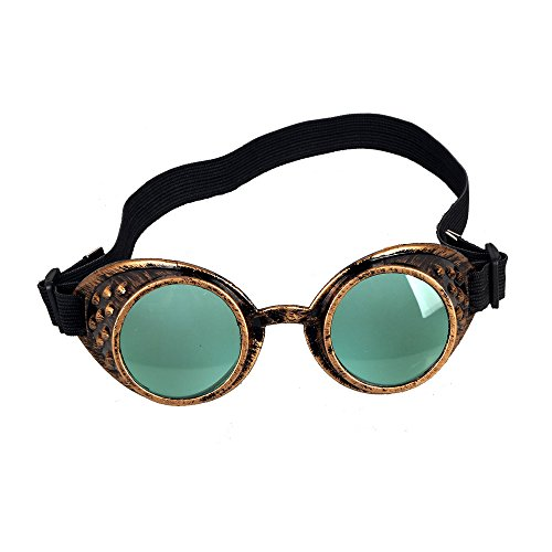 OMG_Shop Anime Goggles Vampire Sport Sunglasses Cosplay Lolita Punk Cyber Goth Punk Steampunk Goggles (Green - Sunglasses Anime