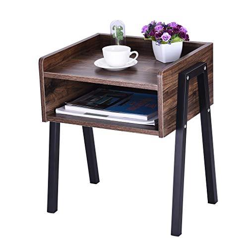 Retro Bedside Table Locker,Lefthigh Bedroom Creative Nightstand Jewelry Storage Metal Frame 18.1 x 14.2 x 20.5 inche