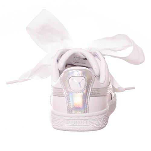 Wn's Scarpe White White Patent Basse Ginnastica puma Da Basket Puma Donna Heart gxHttT