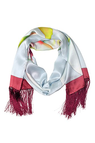 TexereSilk Women's 100% Silk Shawl With Fringe (Multicolor, Unisize) Popular Gifts for Her (Mtc Multi Color)