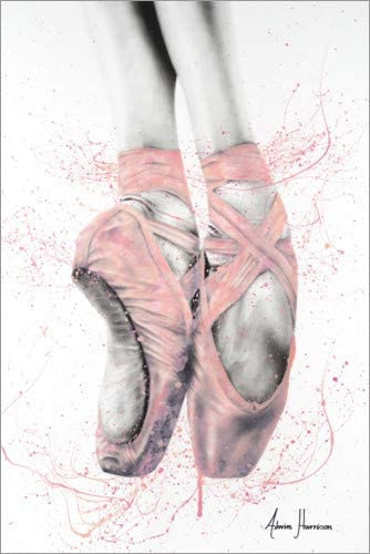 Poster pointe shoes