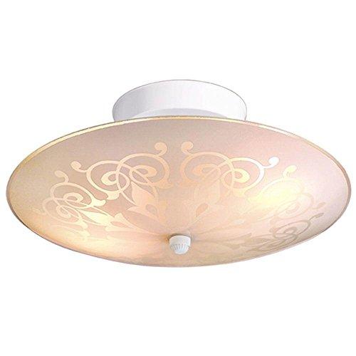 Price comparison product image 2-Light White Ceiling Flushmount