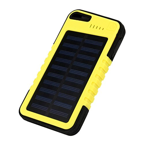 Water-proof 20000 mAh Solar Mobile Power Bank Solar Charger (Yellow) - 8