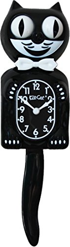 Kit Cat Klock Gentlemen The Original (Classic Black) (Black Cat Clock With Moving Eyes And Tail)
