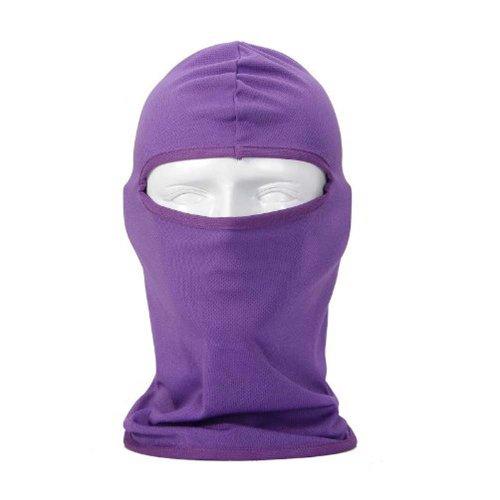 KingMansion New Ultra Thin SKi Bike Football Helmet Reflective CS Face Mask Sports Balaclava - Purple