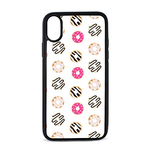 Houst Julia iPhone X Case, iPhone Xs Case White Donuts Glazed Anti-Scratch Shock Cover Damping Designed for Apple Case iPhone (White Glazed Cover)