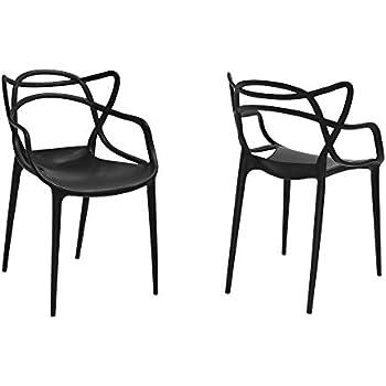 Amazon.com: Moderno juego de 2 silla de estilo Hollow-Out ...