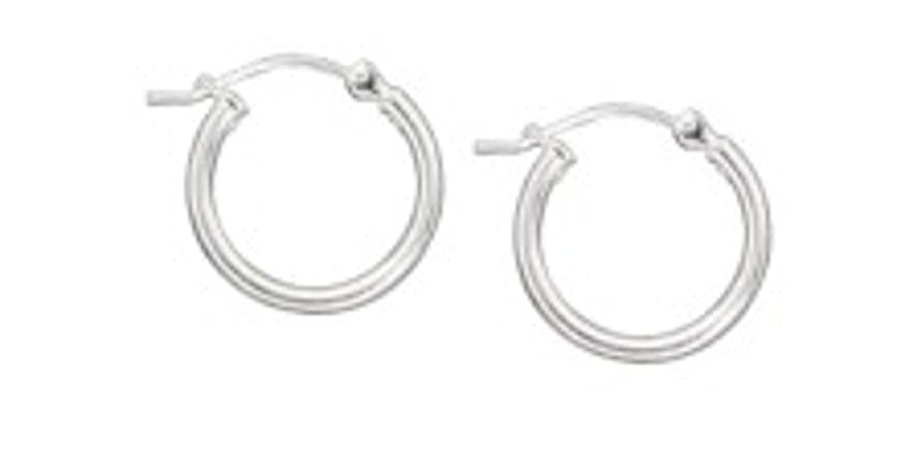 Sterling Silver Lightweight Hoop Earrings Curved Lock Earrings