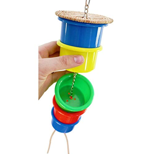 Parrot Feeds Pets Birds Accessories Feeding Cage Foraging Toys Random -
