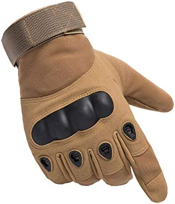Touch Screen Gloves,Khaki,Large,TLK31 Gloves for Motorcycle Cycling Training Army Shooting Outdoor Gloves Tactical Gloves Army Military Gloves Full Finger Hard Knuckle Combat Gloves for Men