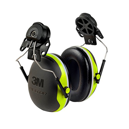 3M Peltor XSeries CapMount Earmuffs, NRR 25 dB, One Size Fit
