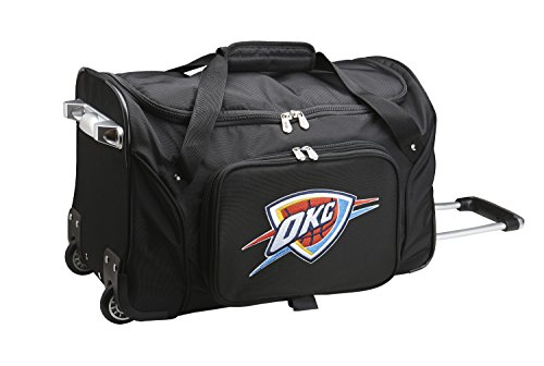 NBA Oklahoma City Thunder Wheeled Duffle Bag, 22 x 12 x 5.5