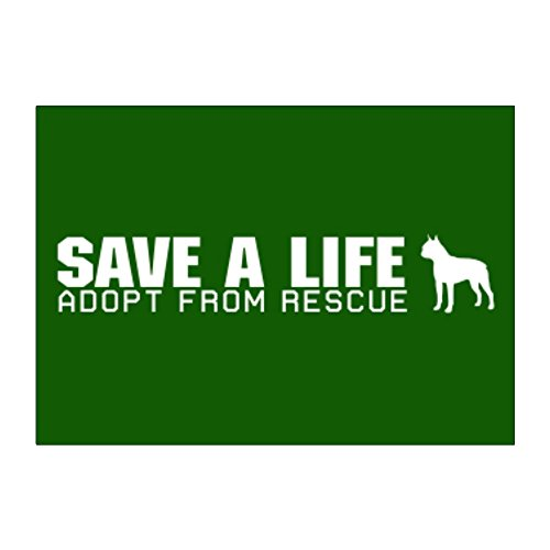 Teeburon Save a life, adopt from rescue Boston Terrier Pack of 4 Stickers - Boston Terrier Rescue