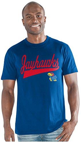 NCAA Kansas Jayhawks Men's Legend Short Sleeve Top, Royal, Large
