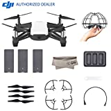 Cheap 2018 DJI Tello Quadcopter Drone Boost Combo with HD Camera and VR, Comes 3 Batteries, Protective Cage, 8 Propellers, Powered by DJI Technology and Intel 14-Core Processor, Coding Education, Throw and