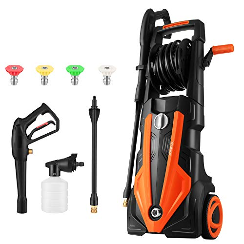 TOOLUCK Pressure Washer 3000 PSI, 2.6GPM Electric Power Washer 1800W with 4 Spray Modes, Portable High Pressure Washer, Cleaner Machine for Cars/Fences/Garden/Patios/Pool (Orange)