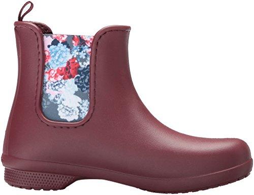 garnet Marrón Boot Women Agua Botas Mujer Chelsea Para Crocs Freesail De aqHTff