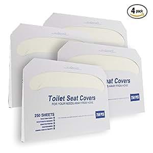 Amazon Com Paper Toilet Seat Covers Disposable Half
