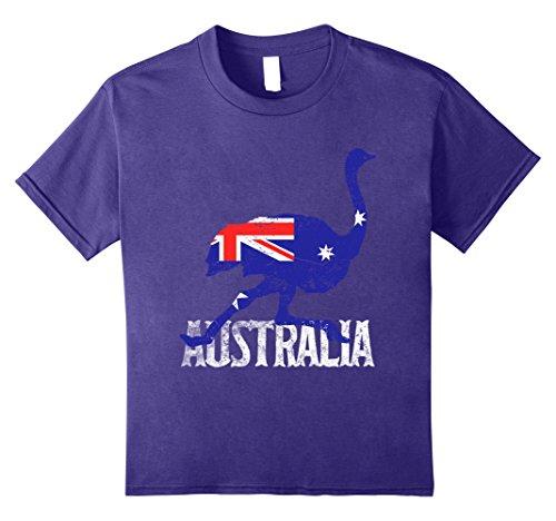 Kids Flag of Australia Ostrich Costume T-Shirt Love Ostriches 8 (Child Costumes Australia)