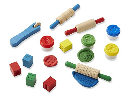 Melissa & Doug Shape, Model, and Mold Clay Activity Set - 4 Tubs of Modeling Dough and Tools (Shape Toy Model Animal)