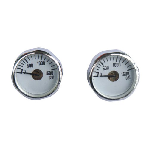 New 2x 1500 PSI Paintball Micro Gauge Free Shipping
