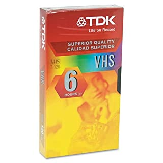 tdk products - tdk - standard grade vhs videotape cassette, 6 hours - sold  as 1 each - repeated record/erase cycles  - clear picture  - high sound  quality