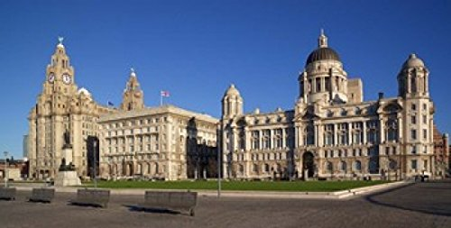 Liver Cunard and Port of Liverpool Buildings Liverpool Merseyside England Poster Print by Paul Thompson (40 x 20)
