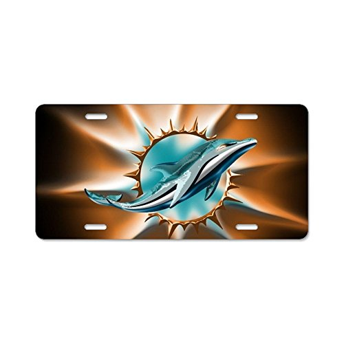 Greicmn New Plate Tag Miami Dolphin Car Accessories Metal License Plate Frame