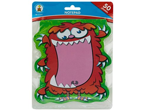 Kole Imports OP828-72 6.25 x 5.75 in. Monster Notepad44; Pack of 72