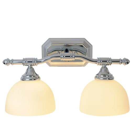 Monument 617082 Decorative Vanity Fixture, Brushed Nickel, 18-Inch by 9-Inch H ()