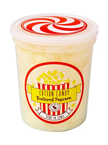 Buttered Popcorn Gourmet Flavored Cotton Candy - Unique Idea for Holidays, Birthdays, Gag Gifts, Party Favors