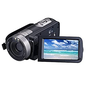 "Digital Video Camera Camcorders With IR Night Vision 24.0 Mega pixels, WEILIANTE Portable Mini Handheld Camcorder HD 1080P Max. DV 3"" LCD Screen 16X Zoom (Two Batteries Included)"