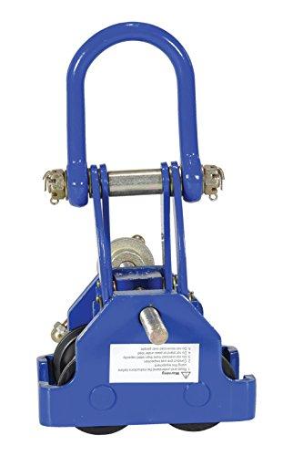Vestil QIT-4 Steel Quick Install Manual Trolley with Powder Coat Finish, 4,000-lb. Capacity, 3 - 7-1/2'' Beam Flange Width, 10'' Headroom by Vestil (Image #4)