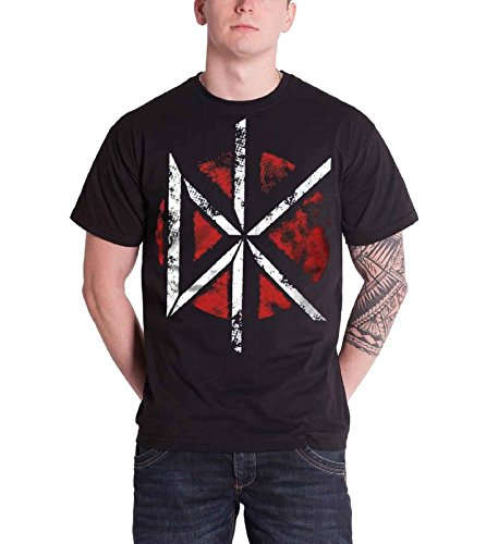 Plastichead Dead Kennedys Distressed Dk Logo official men's black large (Dead Kennedys Dk Band)