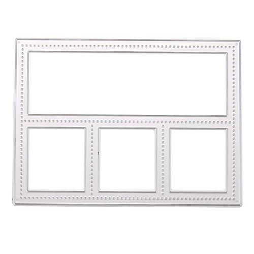 Metal Frame Memory Box Cutting Dies DIY Scrapbooking Diary Card Hand Craft (Memory Box Dies Border)