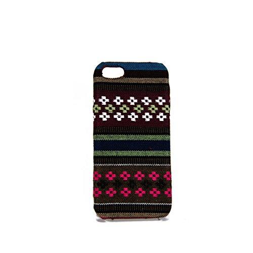 König-Shop Handyhülle aus Stoff-Case für Apple iPhone 5 / 5s / SE Cover Etuis Bumper Braun