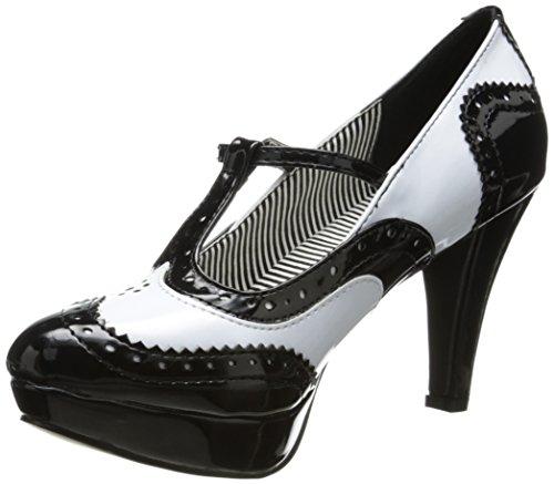 Ellie Shoes Women's 414 Shelby Spectator Pump - Black/Whi...