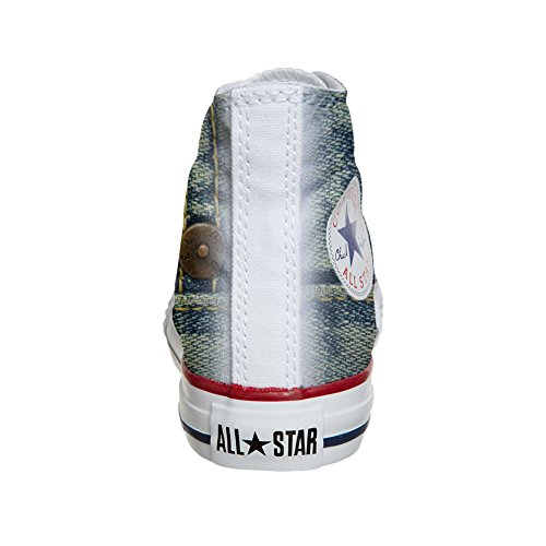 Converse Customized Chaussures Coutume (produit artisanal) Jeans