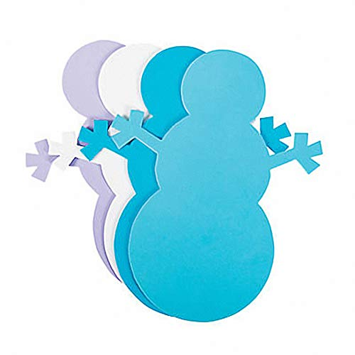 - Foam Snowman Shapes - 24 pc - Ready to Decorate 8 inch shapes